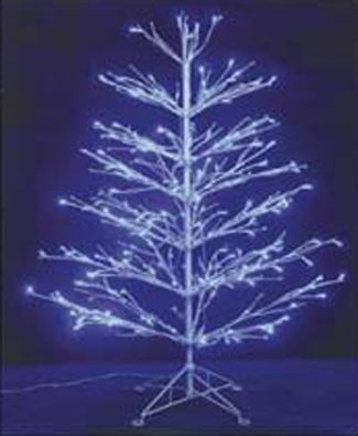 Arbol blanco luces led interior exterior - Luces led arbol navidad ...